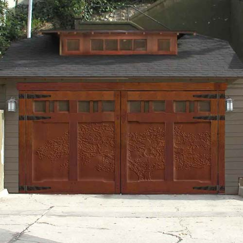 Garage wood door and gate custom carving design for darrin for Garage doors designs