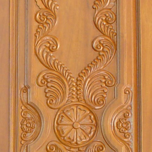 Designer Wood Doors teakwood hand carved special doors spl hand carved temple door vu 917 exporter from chennai 01 Mar 200505