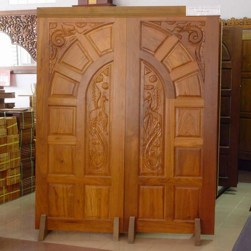 Custom Double Teak Door Made In Solid Genuine Burmese Teak