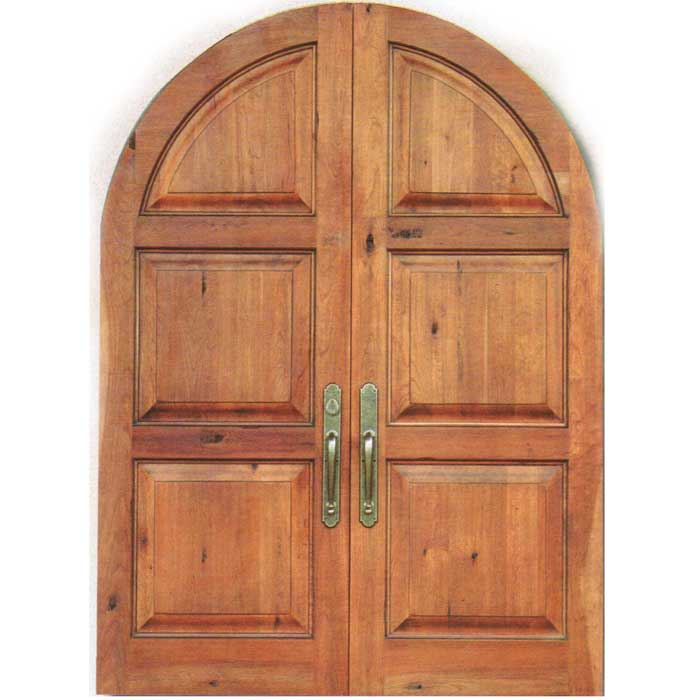 Double Door  sc 1 st  Carved Doors The-Wood & Pre-Hung Hardwood Double Radius Door Finished with Color | Jon-Oakland