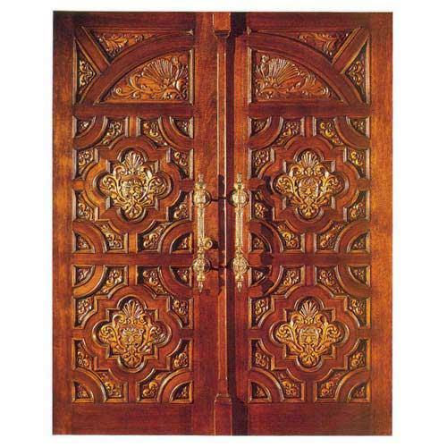 Double door oversize radius exterior double door made in for Double wood front doors