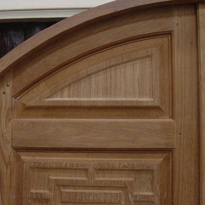 Double door exterior wood door round top double door for Round door design