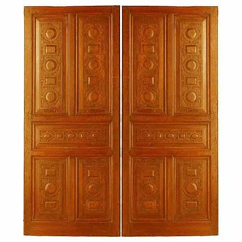 Double Door Exterior Wood Door | Round Top Double Door Custom ...