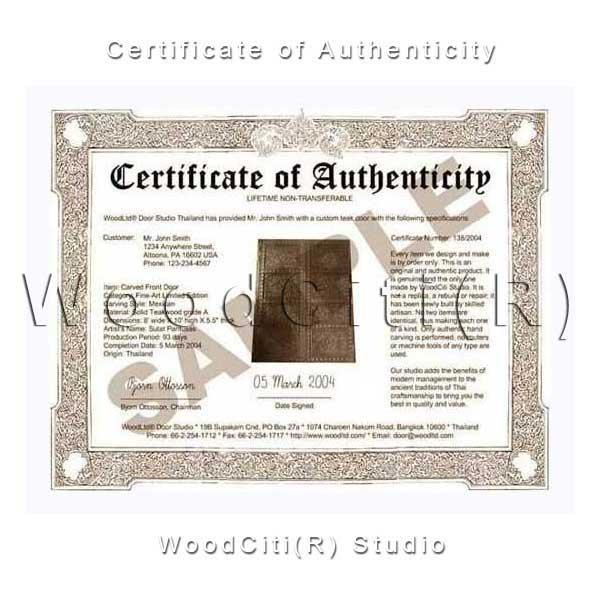 Authenticity Certificate Card ~ Manwitis Magazine