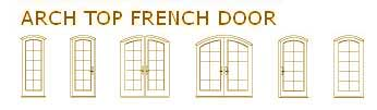 Arch Top French Door